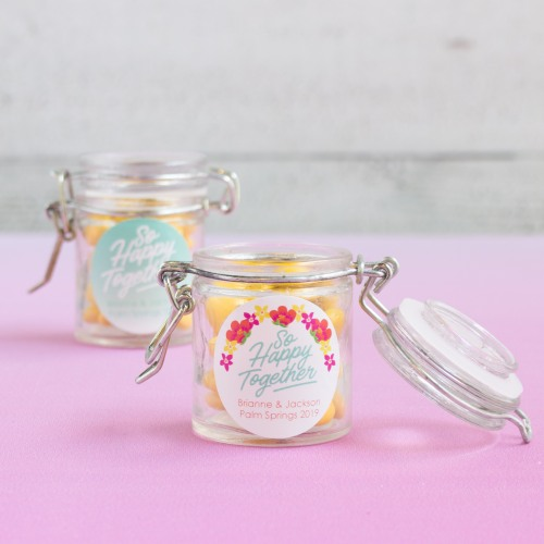 Personalized Happy Together Glass Favor Jars