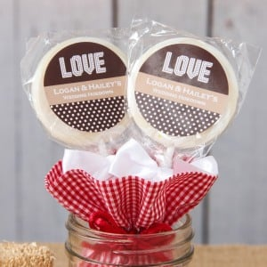 Personalized Wedding Lollipop