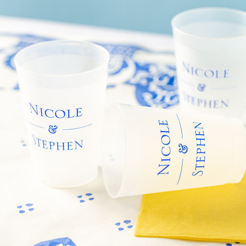 Personalized Citrus Garden Frosted Plastic Cups