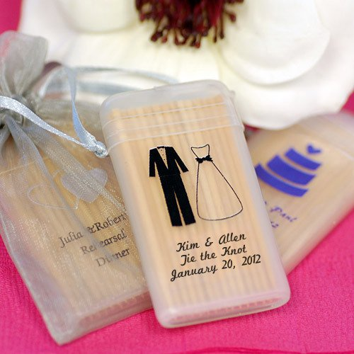 Personalized Wedding Toothpick Favors