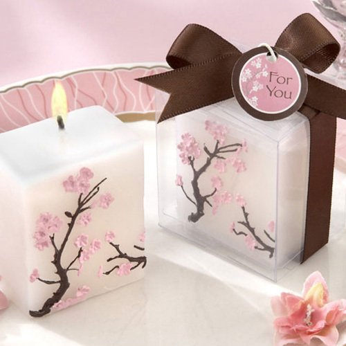 Cherry Blossom Candle Favors