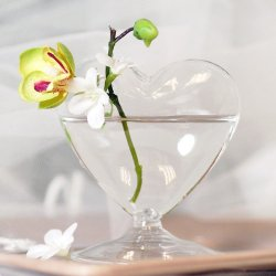 Mini Blown Glass Heart Vases