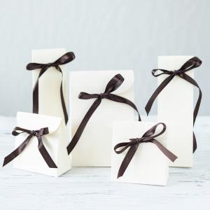 Ivory Linen Favor Bags