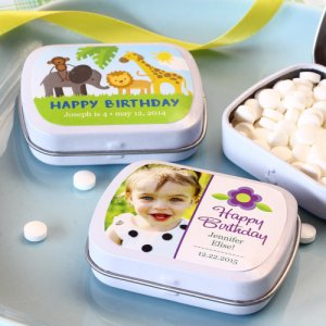 Exclusive Personalized Birthday Party Mint Tins