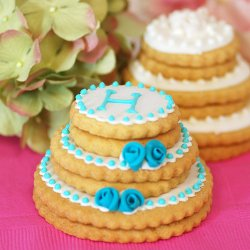 Personalized Stacked Wedding Cookie Cake