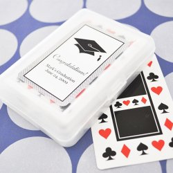 Graduation Playing Cards with  Personalized Labels