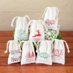 Personalized Natural Cotton Party Favor Bag