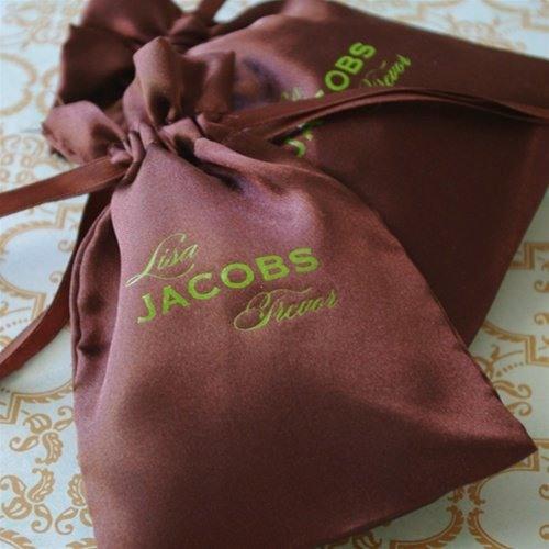 Personalized Color Satin Favor Bag