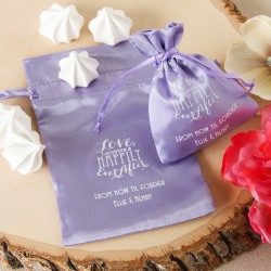 Personalized Color Satin Favor Bag