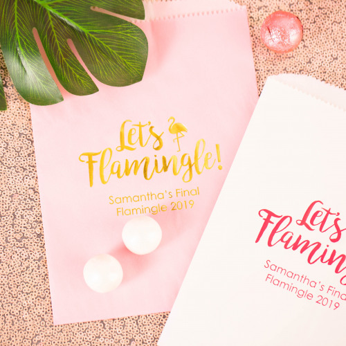 Personalized Let's Flamingle Sweets 'n Treats Bag