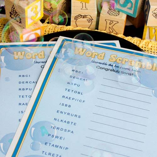 Baby Shower Word Game