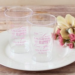 Personalized Clear Plastic Cups