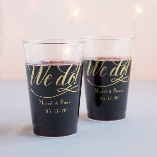 Personalized We Do Clear Plastic Cups