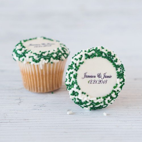 Personalized Mini Wedding Cupcakes
