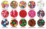 Sprinkles Cupcake Confetti Shapes Color Chart
