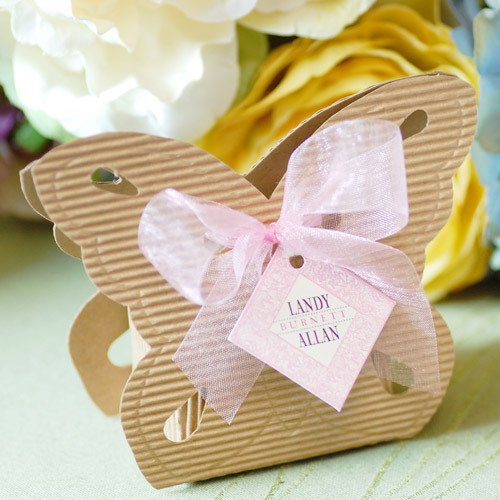 Butterfly Shaped Favor Boxes