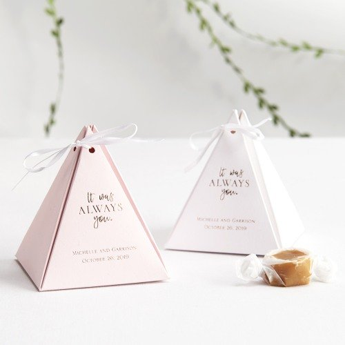 Personalized It Was Always You Pyramid Favor Box