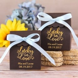 Personalized Scalloped Favor Bag