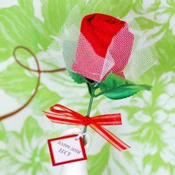 Rose Towel Favor
