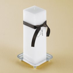 Crystal Monogram Unity Candle with Stand