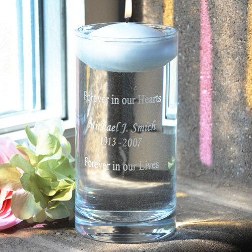 Personalized Floating Wedding Memorial Candle