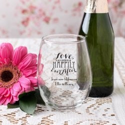 Personalized 9 oz. Stemless Wine Glass