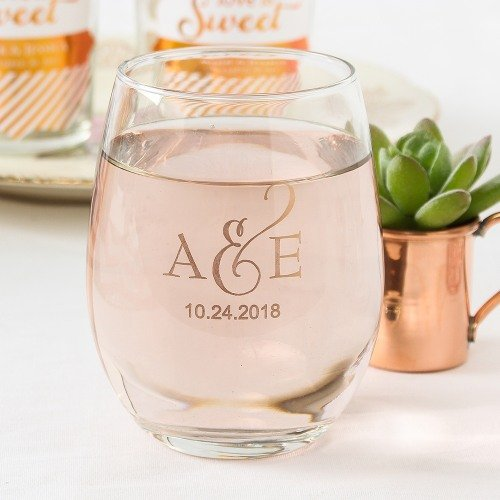 Personalized 9 oz Stemless Glass