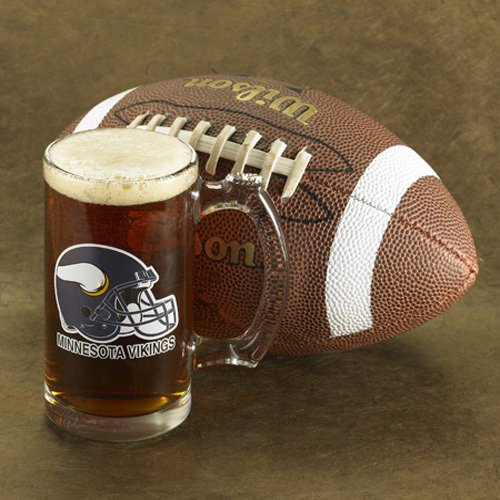 Personalized Football Teams Beer Mug