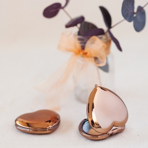 Heart Shaped Compact Mirrors