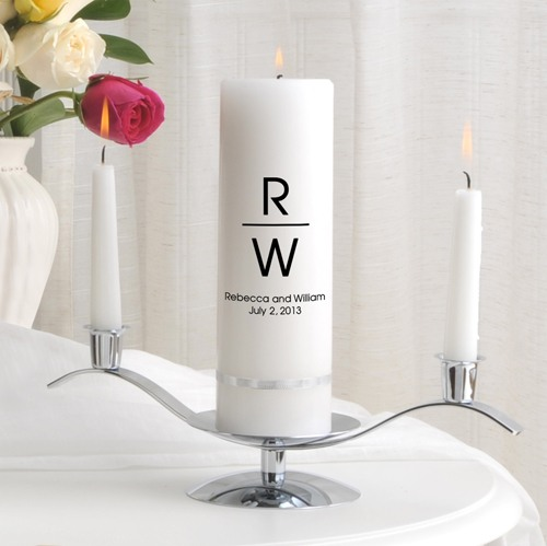 Personalized Classic Unity Candle Set