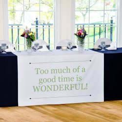 Custom Printed Table Runner