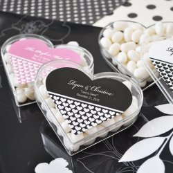 Personalized Heart Shaped Acrylic Favor Box