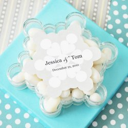 Personalized Snowflake Acrylic Favor Box