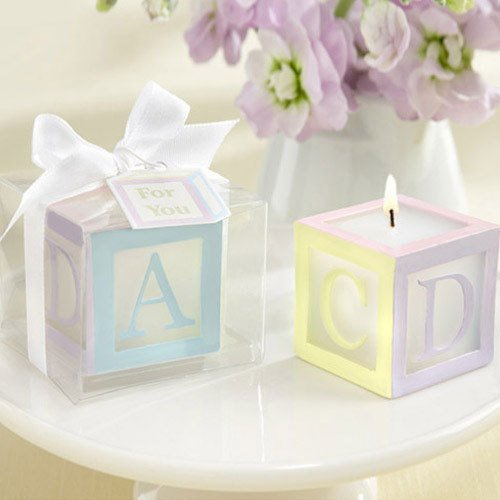 Baby Block Candles