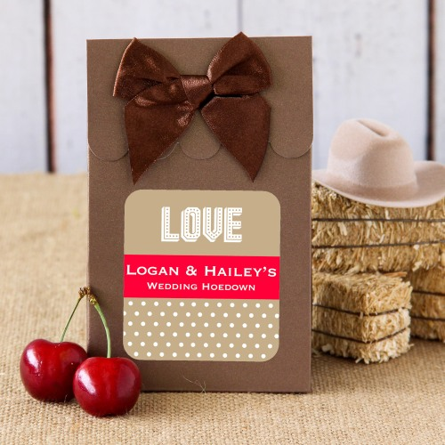 Personalized Wedding Hoedown Candy Bag