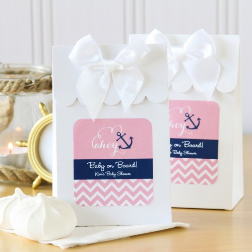 Personalized Nautical Baby Shower Candy Bags