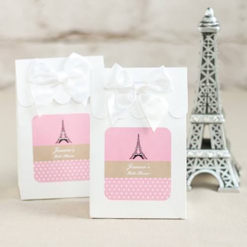 Personalized Paris Themed Baby Shower Candy Bag