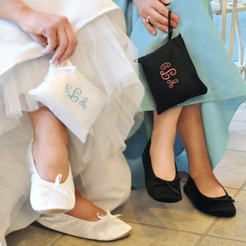 Ballet Shoes with Monogrammed Pouch