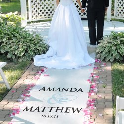 Custom Printed Wedding Aisle Runner