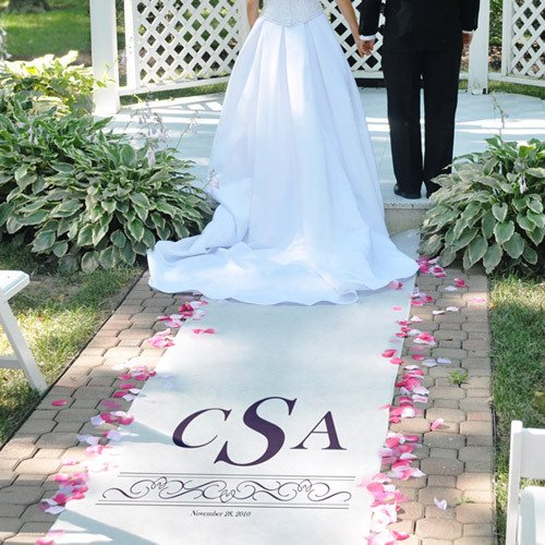 bridal colors custom printed wedding aisle runner 27748