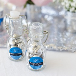 Personalized Wedding Mini Glass Bottle