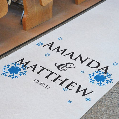Personalized Snowflake Aisle Runner