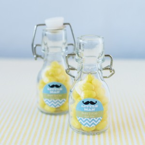 Personalized Baby Shower Mini Glass Bottle