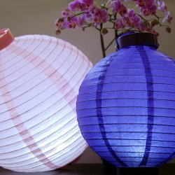 Color Paper Round LED Battery Lantern
