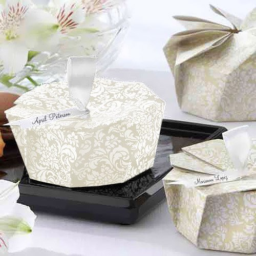 DIY Damask Origami Favor Boxes