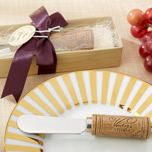 Stainless Steel Spreader with Wine Cork Handle