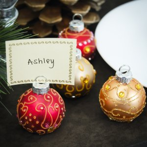 Mini Jeweled Ornament Place Card Holders