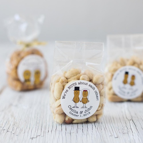 Personalized Bride & Groom Nuts Favor