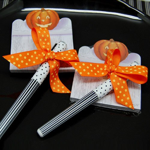 Halloween Pen and Sticky Notes Favors