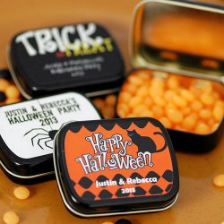 Personalized Halloween Candy Tin
